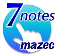 7notes with mazecのロゴ